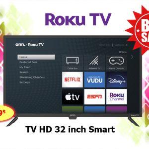 roku tv onn 32 inch HD