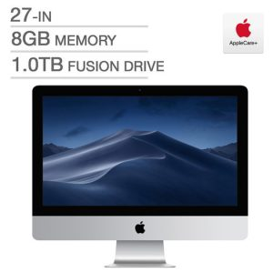 Apple iMac with AppleCare+, Intel i5, 8 GB RAM, 1.0 TB Fusion Drive (Online Purchase ONLY)